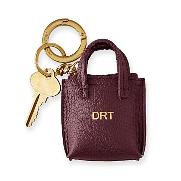 Daily Tote Keychain, Plum