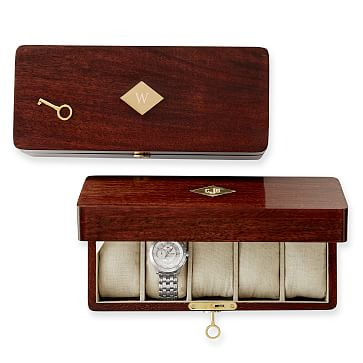 Wood Watch Box, Acacia Veneer