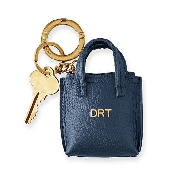 Daily Tote Keychain, Navy