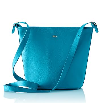 Vivid Leather Bag, Turquoise