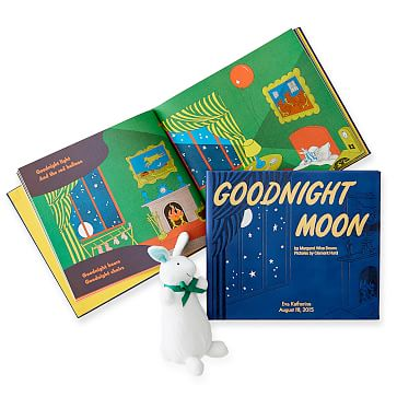 Leather-Bound Book, Goodnight Moon, Blue