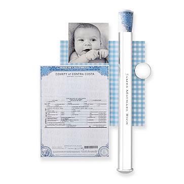 Sterling Silver Birth Certificate Holder