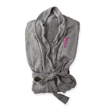 Lightweight Lounge Robe, Gray, X-Large