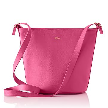Vivid Leather Bag, Magenta