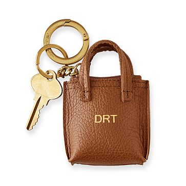 Daily Tote Keychain, Camel