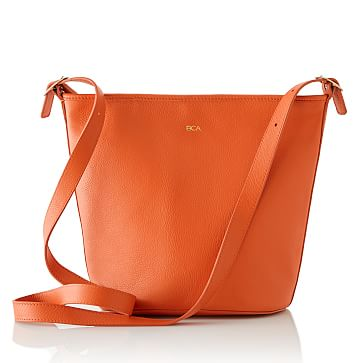 Vivid Leather Bag, Orange