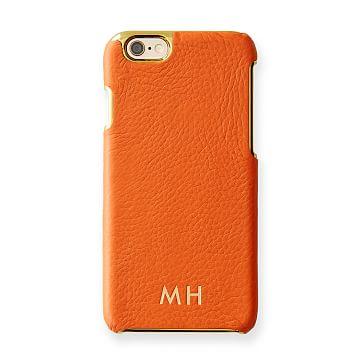 Vivid Leather iPhone 6 Case, Orange