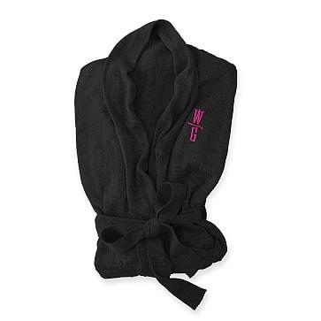 Lightweight Lounge Robe, Black, Small
