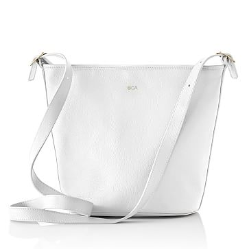 Vivid Leather Bag, White