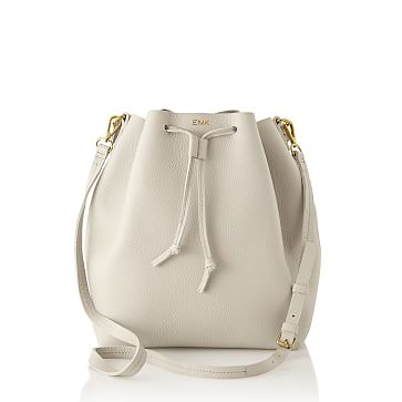 The Daily Bucket Bag, Leather, Stone