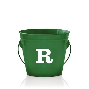 Enamel Bucket, Monogrammed, Kelly Green