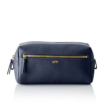 The Daily Travel Pouch, 10 inches x 5 inches, Leather, Navy