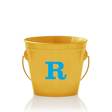 Enamel Bucket, Monogrammed, Yellow