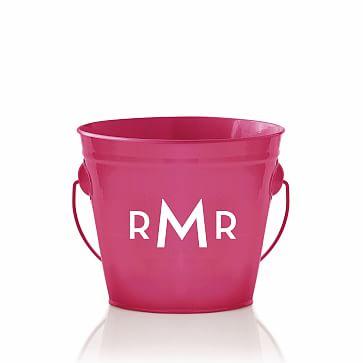 Enamel Bucket, Monogrammed, Pink