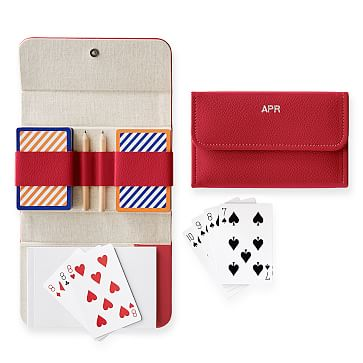 Travel Playing Cards, Double Deck, Red