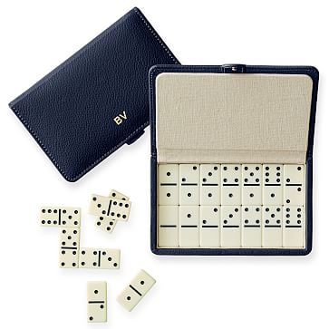 Travel Domino Set, Navy