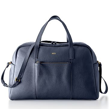 The Daily Overnighter, Leather, Navy