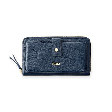 The Daily Wallet, Leather, Navy