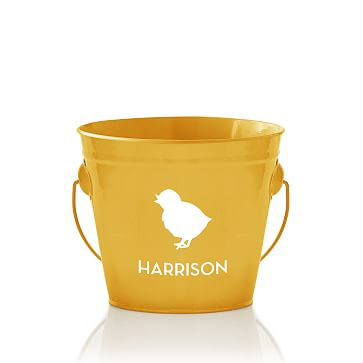 Enamel Bucket, Personalized, Yellow