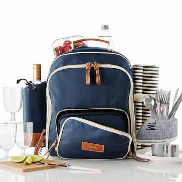 Insulated Picnic Backpack, Navy