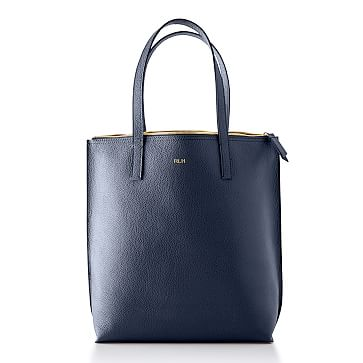 The Daily Tote, Leather, Navy