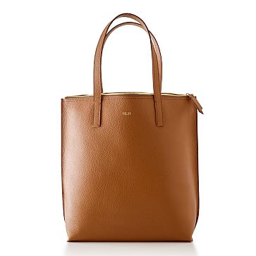 The Daily Tote, Leather, Camel