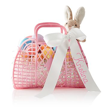Jelly Bean Basket, Pink