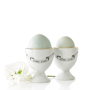Maybelle Calligraphy Egg Cups, Set of 4
