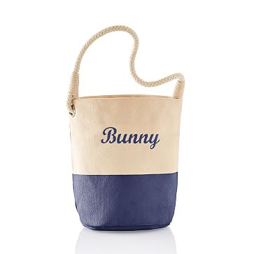 Dipped Canvas Bunny Bucket, Navy