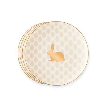 Easter Bunny Dessert Plates, Blush, Set of 4