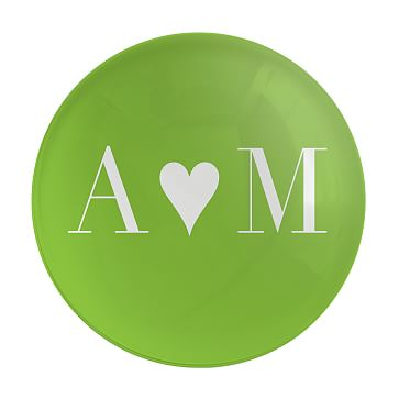 Morla Paperweight, Monogrammed, Apple Green