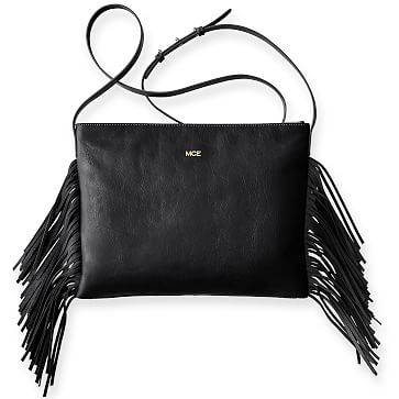 Fringe Crossbody, Black