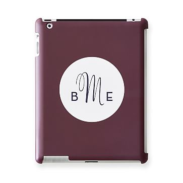 Pattern iPad Case, Plum Circle