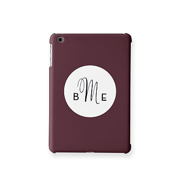 Pattern iPad Mini Case, Plum Circle