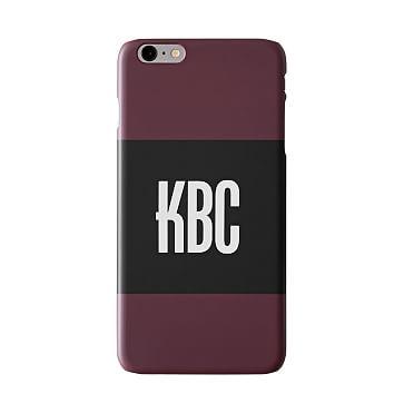 Pattern iPhone 6+ Case, Horizontal Plum
