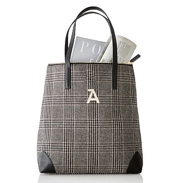 Houndstooth Tote, Black and Grey