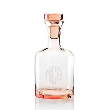 Everyday Glass Decanter, Blush