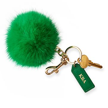 Pompom Keychain, Kelly Green