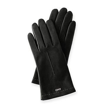 Women's Italian Classic Suede Glove, Size 6, Black