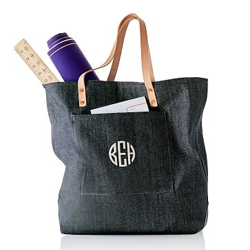 Denim Tote, Blue