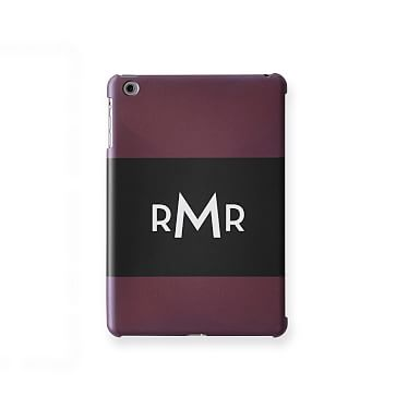 Pattern iPad Mini Case, Horizontal Plum
