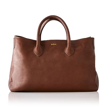 Elisabetta Slouch Handbag, Sauvage Leather, Chestnut