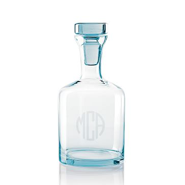 Everyday Glass Decanter, Smoky Blue