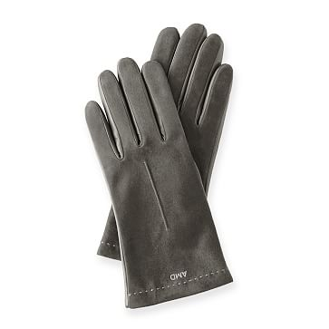 Women's Italian Classic Suede Glove, Size 6.5, Cement