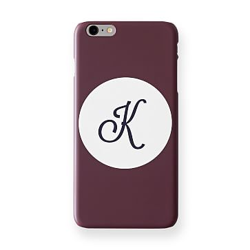 Pattern iPhone 6+ Case, Plum Circle