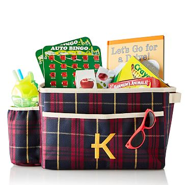 Car Organizer, Red Plaid