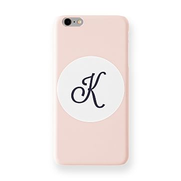 Pattern iPhone 6+ Case, Blush Circle