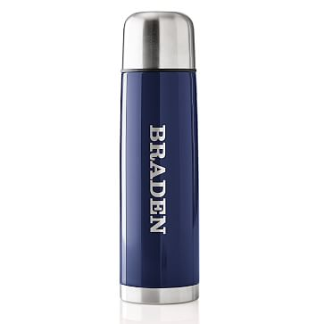 Retro Thermos, Large, Navy