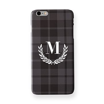 Pattern iPhone 6+ Case, Grey and Plaid