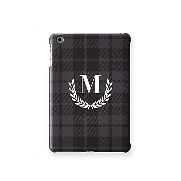 Pattern iPad Mini Case, Grey and Black Plaid